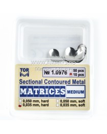 Matrici Metalice Sectionale TOR VM MEDIUM 0.05 HARD 10buc/Set