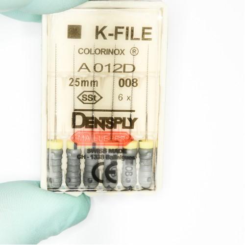 Ace Dentsply K-File Colorinox #08 (Gri) 25mm