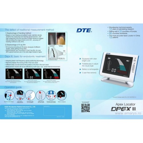 Apex locator DPEX III Woodpecker DTE