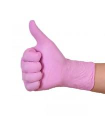 Manusi nitril roz 100buc/cutie - Marime XS