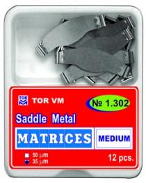 Matrici dentare Saddle Plate standard MEDII TOR VM 12 buc