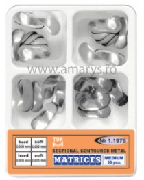 Kit matrici metalice sectionale conturate MEDII TOR VM 30buc/kit