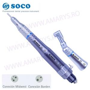 KIT SOCO Piesa dreapta + Piesa cot (contra unghi) + Micromotor